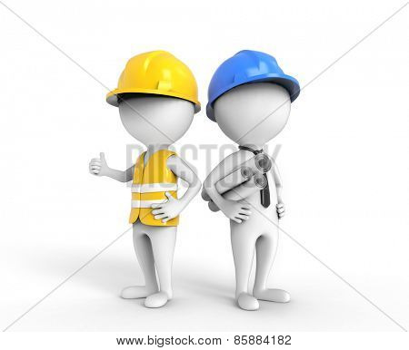 Two engineers thinking