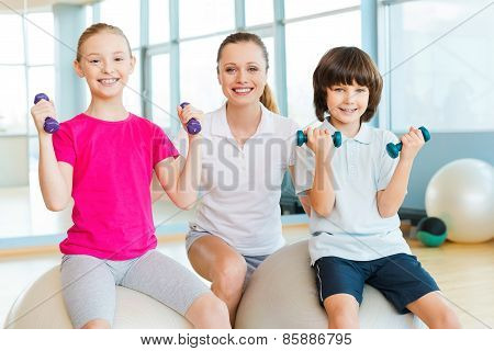 Instructor With Kids.