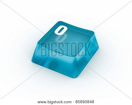 Keyboard button with number zero