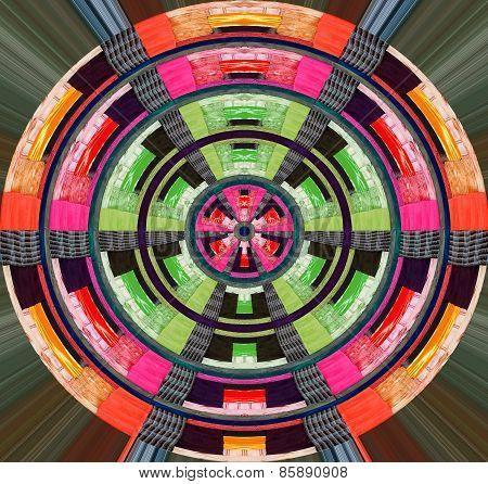 Vintage colorful quilt design