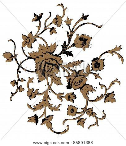 Floral Vines and Flowers Antique Art