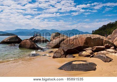 Coast of Ilha Grande Island, Rio de Janeiro State, Brazil