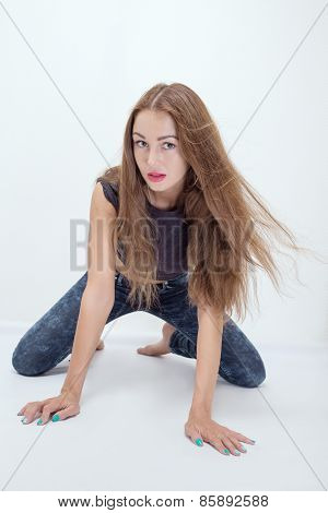 Girl On All Fours