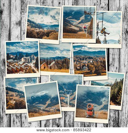 photo collage Carpathian Mountains