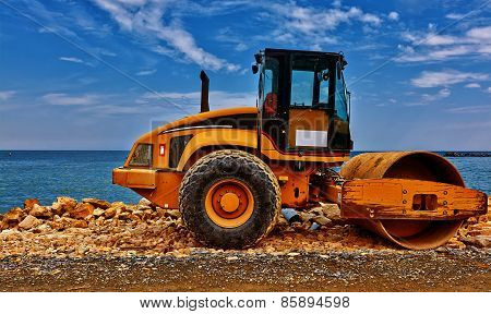 Yellow Road Building Machinery.