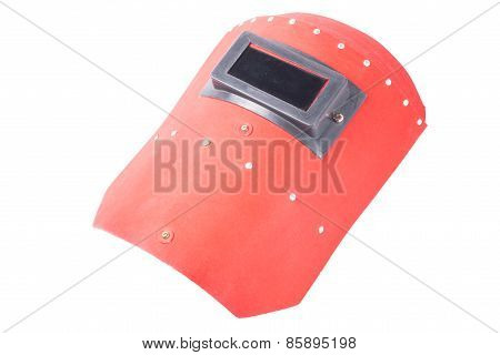 red welding mask