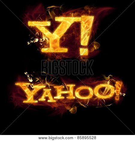 Yahoo Logo On Fire