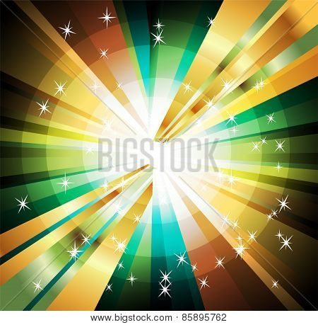 Abstract colorful background of star burst