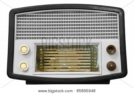 Vintage Old Radio Isolated