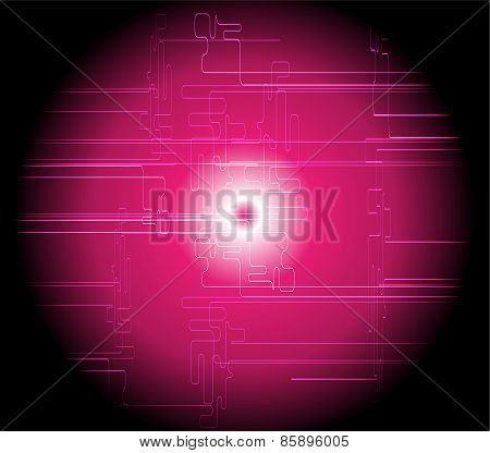 Abstract dark pink technical background