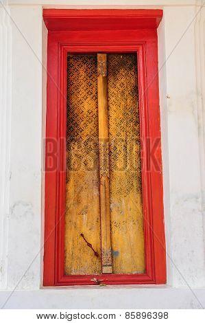 Buddhist Church Door.