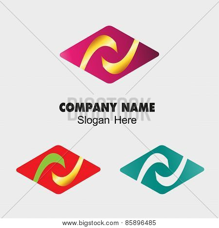 Abstract Rhombus sign, design template. Stylish creative logotype concept