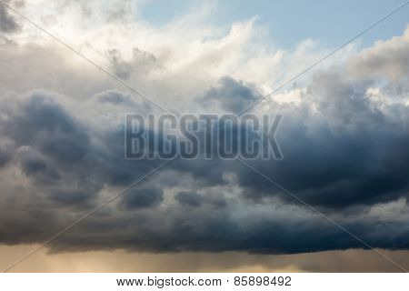 Natural background: dramatic stormy sky
