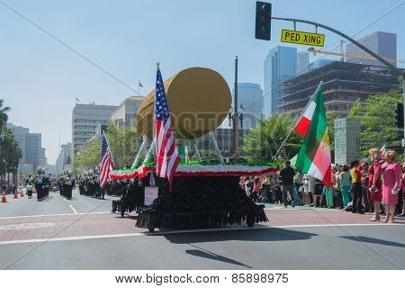 Cyrus Cylinder Parade Float