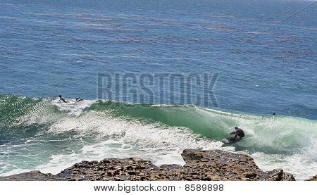 Cliff surfing Santa Cruz