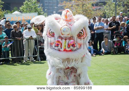 Chinese Lion At The Norooz Festival And Persian Parade