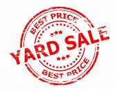 stock photo of yard sale  - Stamp with text yard sale inside vector illustration - JPG