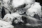 picture of moselle  - detail of a waterfall of Moselle river in Vosges mountains - JPG