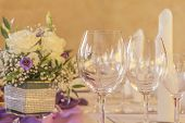 picture of business class  - High class arrangement for a wedding birthday or business meeting  - JPG