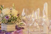 foto of business class  - High class arrangement for a wedding birthday or business meeting  - JPG