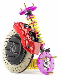 picture of suspension  - Group of auto parts - JPG