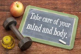 stock photo of slating  - Take care of your mind and body  - JPG