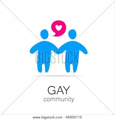 Gay Community - logo, icon design.