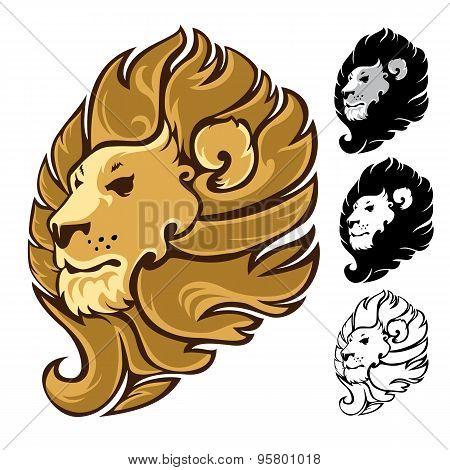 Lion Head Mascot Emblem