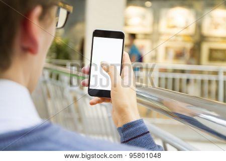 Man Photographs On Phone