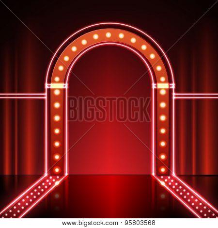 Neon Stage Background