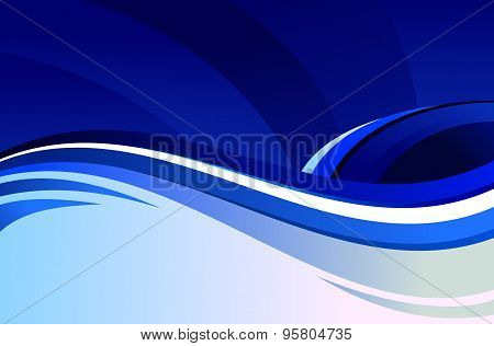 Blue vector wave background