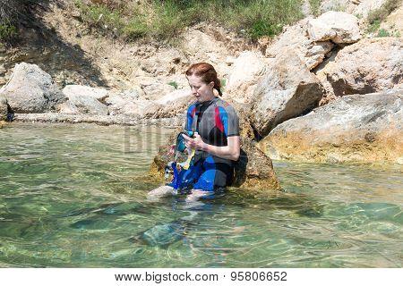 Female Snorkeler