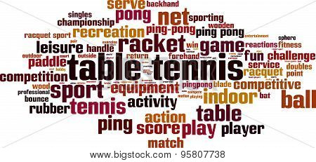Table Tennis Word Cloud