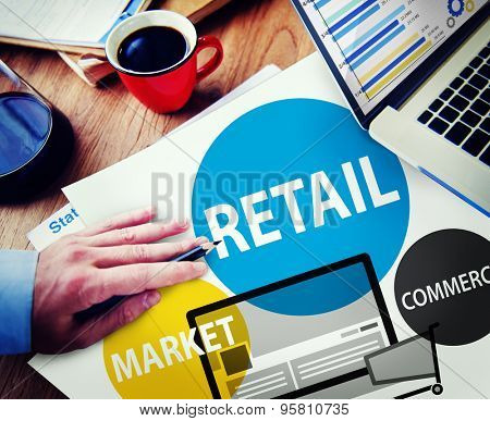 Retail Consumer Commerce Market Purchase Concept