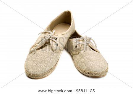Beige Lace Shoes