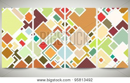 Colored banners collection, flyer layouts, vector illustration templates. Abstract colored backgroun