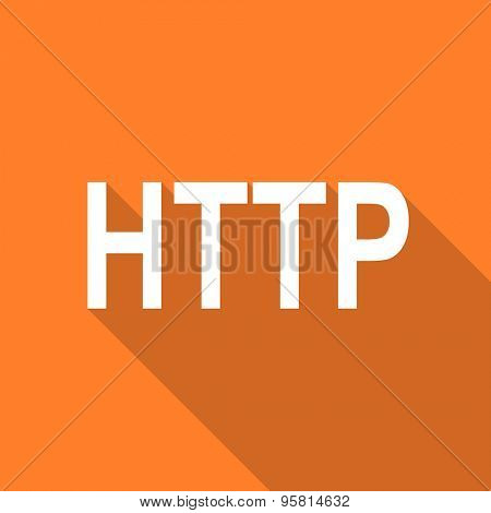 http flat design modern icon with long shadow for web and mobile app