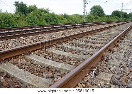 rail track railroad