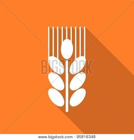 grain flat design modern icon with long shadow for web and mobile app