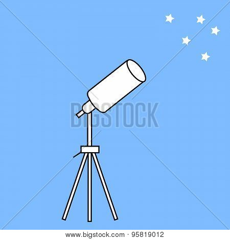 Telescope Astronomical Instrument And Stars