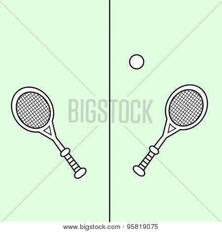 Tennis Court Racquet Ball