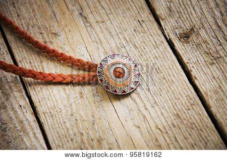 Jewelry On Wooden Background