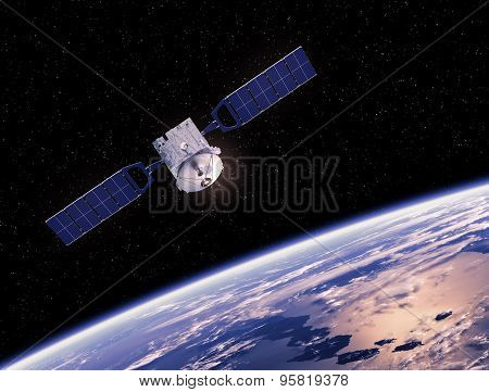 Satellite Orbiting Earth