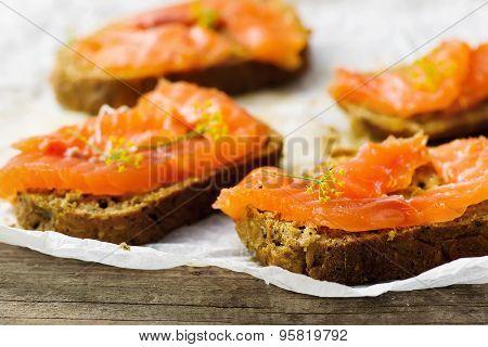 Gravlax  On Bread With Bran