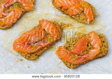 Gravlax  On Bread With Bran