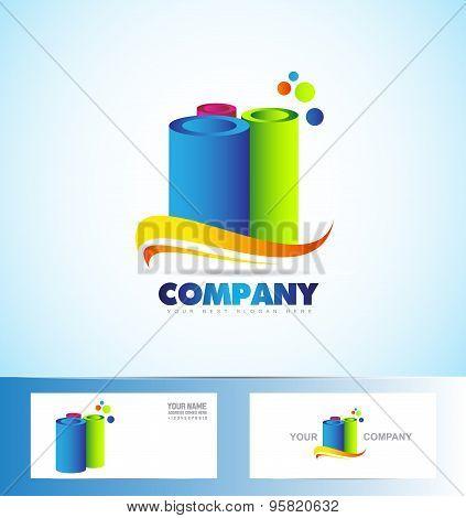 Cylinder Tubes Logo Icon