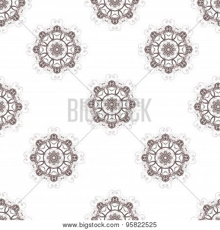 Seamless Pattern Doodles Abstract Decorative Sketch Vector Background