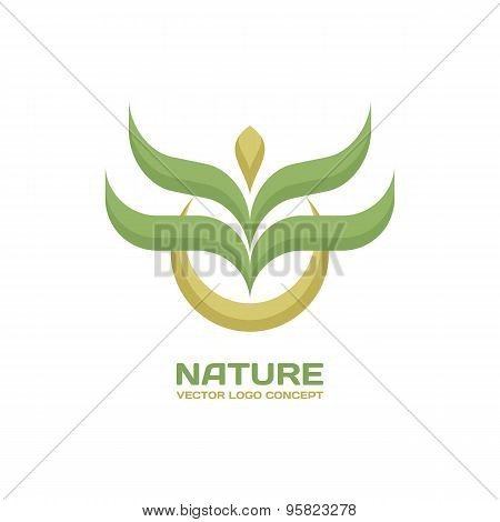 Nature - vector logo concept. Leafs ecology vector illustration. Organic product logo. Nature logo.