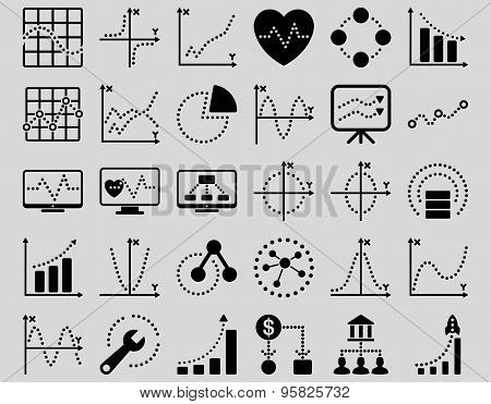 Dotted Charts Icons