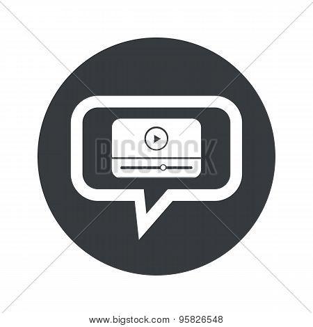 Round mediaplayer dialog icon